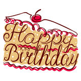 Birthday lettering composition Royalty Free Stock Image