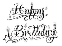 Birthday, lettering, party Stock Image