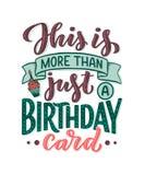 Birthday lettering in retro style. Anniversary invitation card. Vintage invitation template for celebration design. Funny quote. Birthday lettering in retro stock illustration