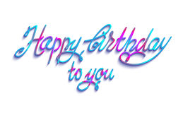 Birthday lettering sign Royalty Free Stock Images