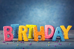Birthday letters Stock Images