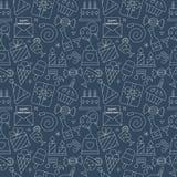 Birthday line icon pattern set Stock Photo