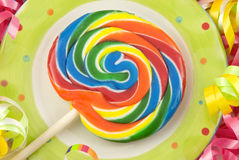Birthday Lollipop Royalty Free Stock Image