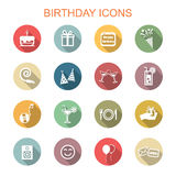 Birthday long shadow icons Royalty Free Stock Images