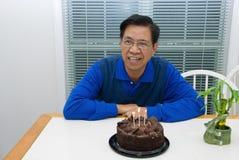Birthday man. Picture of a man having his birthday Stock Photos
