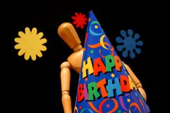 Birthday mannequin Stock Image