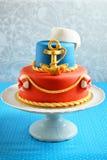 Birthday marine cake for a child Stock Photos
