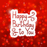 Birthday message Stock Images