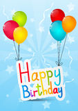 Birthday message Stock Photos