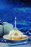 Birthday Muffin Royalty Free Stock Photos