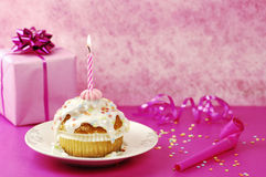 Birthday Muffin Stock Image