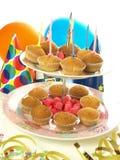 Birthday muffins Stock Photography
