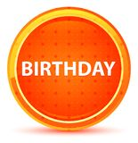 Birthday Natural Orange Round Button stock illustration