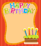 Birthday Note Royalty Free Stock Photography