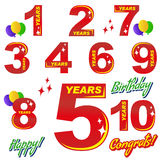 Birthday - numbers and elements Royalty Free Stock Images