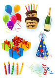 Birthday objects Royalty Free Stock Photos