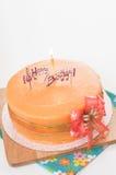 Birthday orange cake. Stock Images