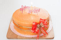 Birthday orange cake Stock Image