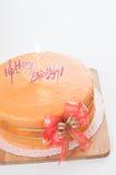 Birthday orange cake Stock Images