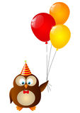 Birthday owl Royalty Free Stock Photos