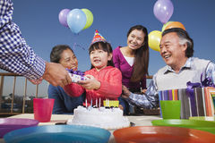 Birthday part, multi-generation family Stock Photo