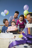 Birthday part, multi-generation family Stock Images