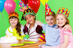 Birthday party. Friends at the birthday party Royalty Free Stock Photo