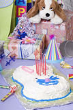 Birthday Party. The excitement of a birthday party, childhood, youth, sharing, friends Royalty Free Stock Photos
