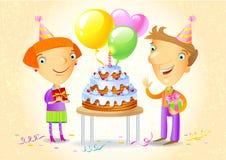 Birthday Party. Family celebrating a birthday party Royalty Free Stock Image