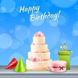 Birthday Party Accessories Realistic Royalty Free Stock Photo