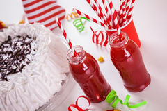 Birthday Party. With All Birthday Decoration. Focus is on Juices Royalty Free Stock Images