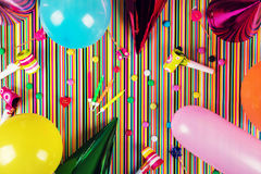 Birthday party background. top view stock photography