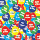 Birthday Party Ballons. A glowing 3D multi coloured Happy Birthday Party ballons Royalty Free Stock Photos