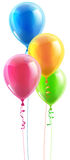 Birthday party balloon set Royalty Free Stock Image