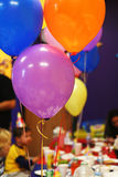 Birthday party balloons. Colorful balloons at the birthday party stock photos