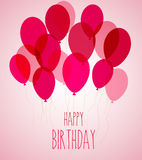 Birthday party balloons in pink Stock Photography