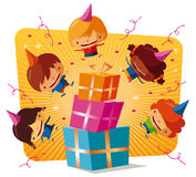 birthday party - big gifts Royalty Free Stock Photo