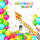 Birthday Party Card Royalty Free Stock Photography