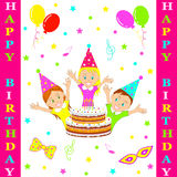 Birthday party card. Royalty Free Stock Images