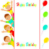 Birthday party card Royalty Free Stock Images