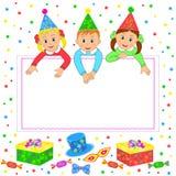 Birthday party card,invitation Royalty Free Stock Image