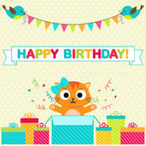 Birthday party card Royalty Free Stock Photos
