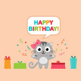 Birthday party card Stock Photography