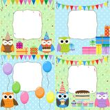 Birthday Party cards Royalty Free Stock Photography