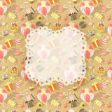 Birthday Party Celebration Background with emblem Royalty Free Stock Photo