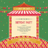 Birthday party celebration card invitation vector illustration Royalty Free Stock Photo