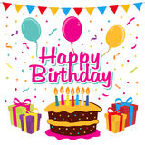 Birthday Party Celebration. Birthday Party illustration. EPS 10 file and large jpg included Stock Photography