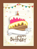 Birthday party celebration invitation card design. Stock Images