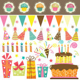 Birthday Party Celebration Set Royalty Free Stock Images