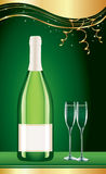 Birthday party champagne wine background Royalty Free Stock Photos